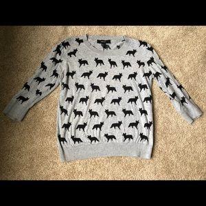 Gray fox sweater